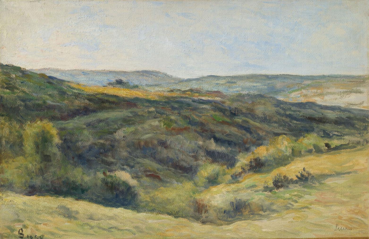 Maximilien Luce-Rolleboise, Les Coteaux De La Rouge Voie-1925