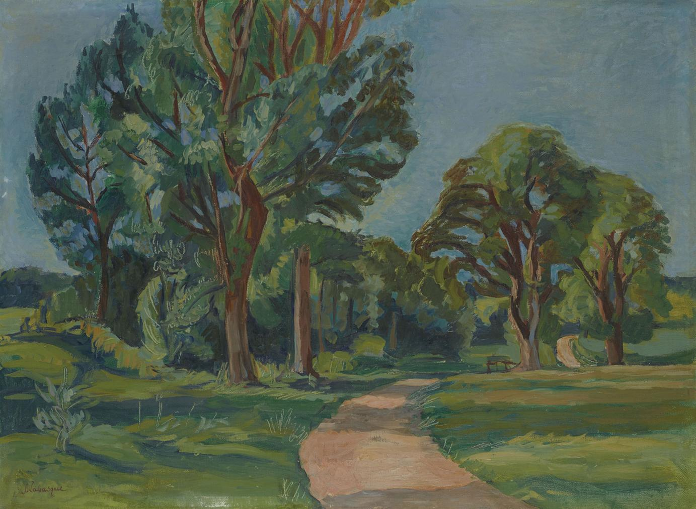 Jean Labasque - Chemin Dans Un Parc-