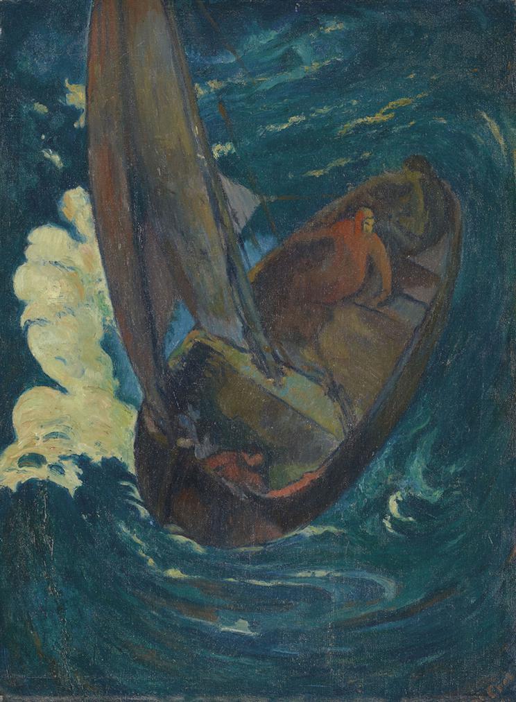 George-Daniel De Monfreid - Homme Dans Une Barque (Dapres Paul Gauguin, Album Noa-Noa )-