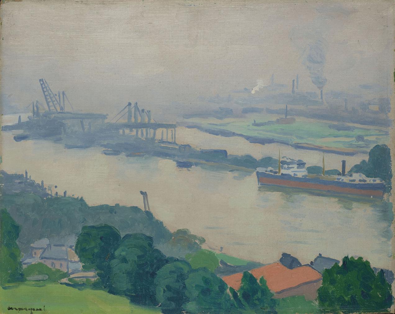 Albert Marquet-La Seine A Croisset (Pres De Rouen)-1927