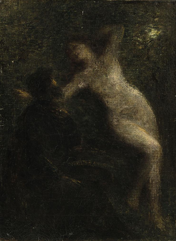 Henri Fantin-Latour-Le Poete Et La Muse-1901
