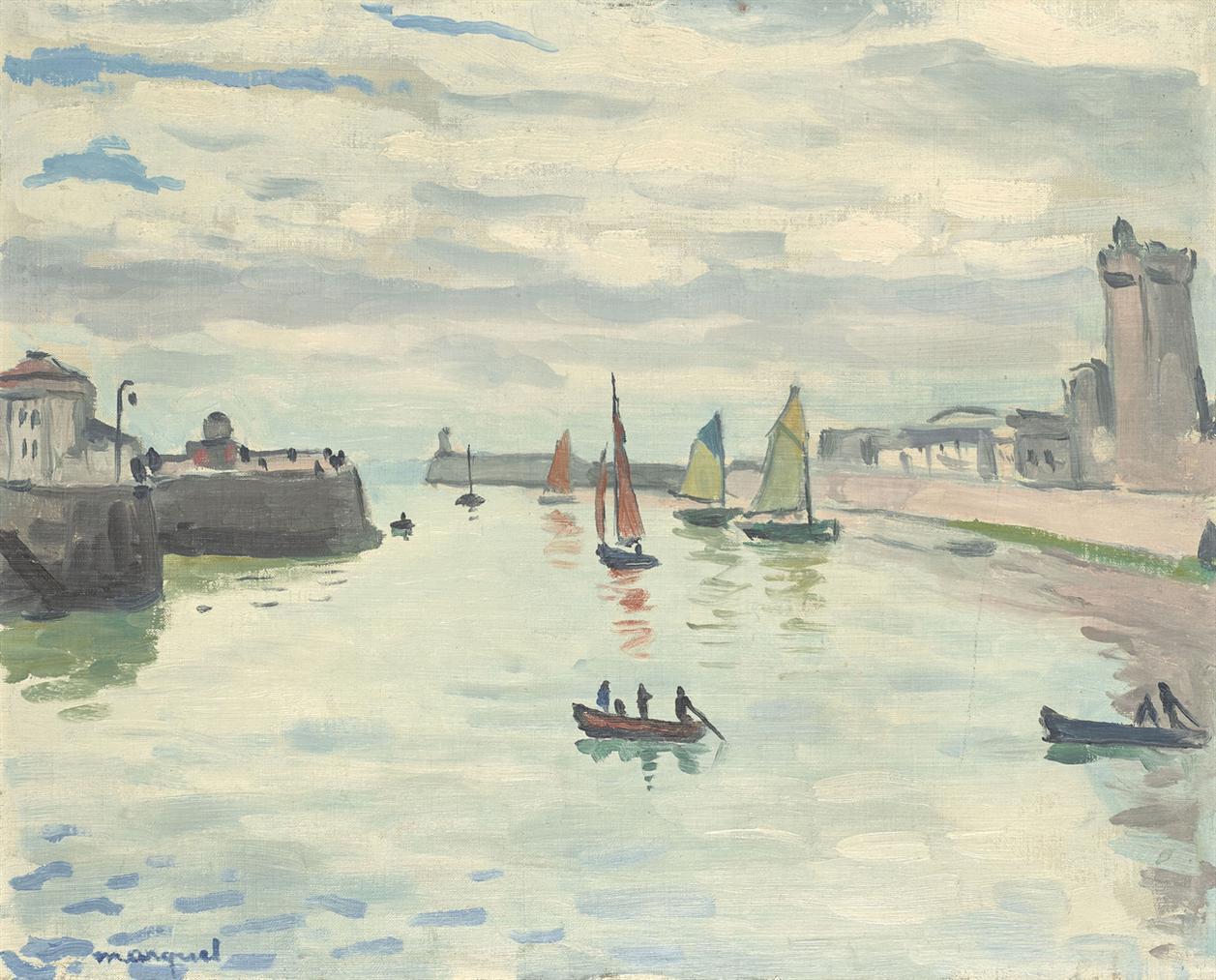 Albert Marquet-Le Port De La Chaume (Les Sables Dolonne)-1921