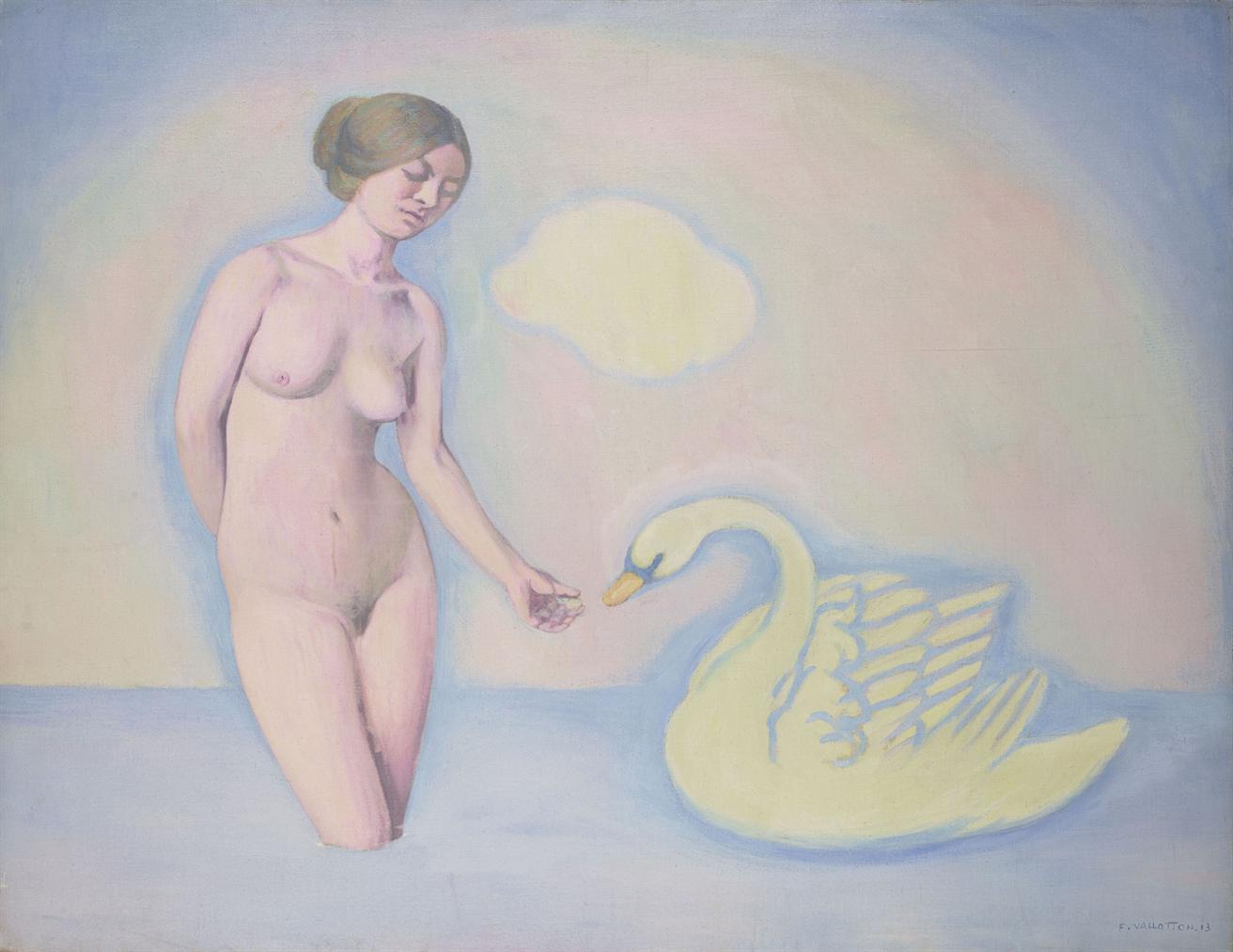 Felix Vallotton-Femme Au Cygne-1913