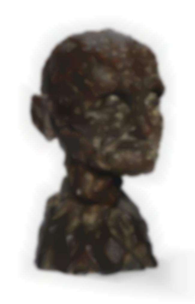 Camille Claudel-Lage Mur (Tete De Vieil Homme Avec Buste-Etude) Ou Tete De Vieil Homme Ou Etude Pour Lage Mur-1894