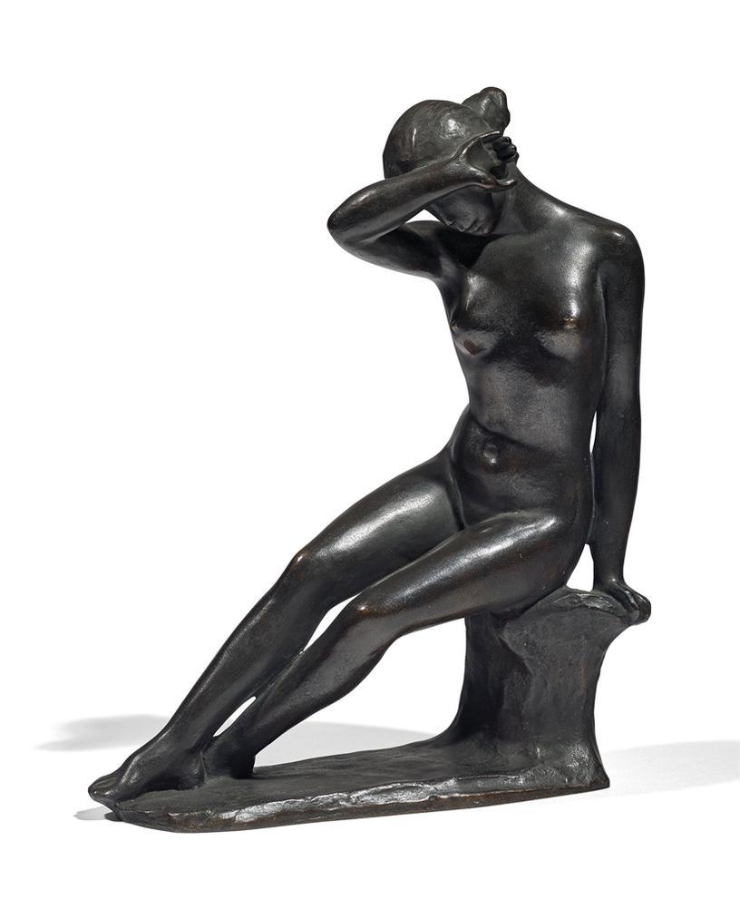 Aristide Maillol-Jeune Fille Se Voilant Les Yeux-1900