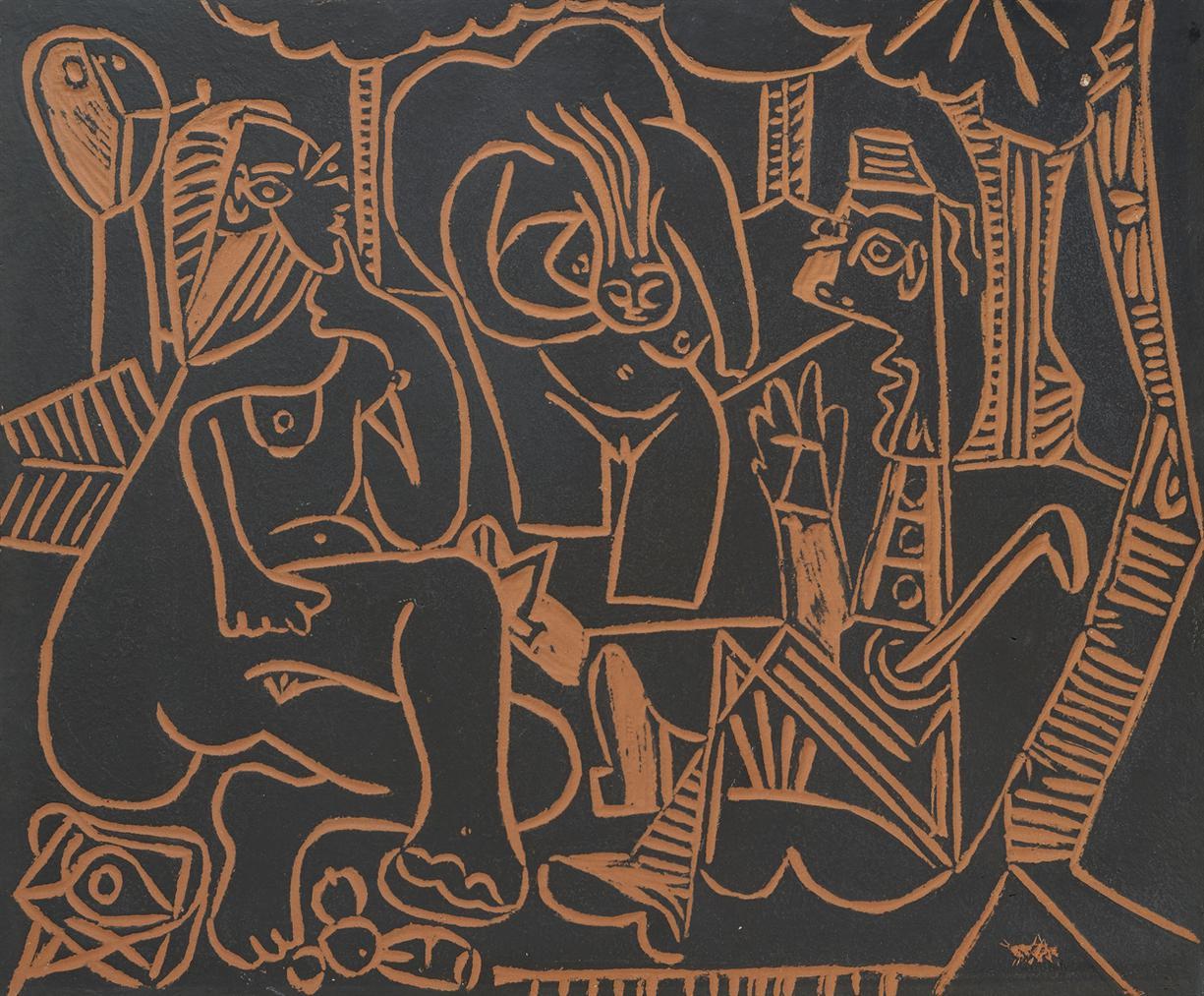 Pablo Picasso-Le Dejeuner Sur Lherbe (A.R. 517)-1964
