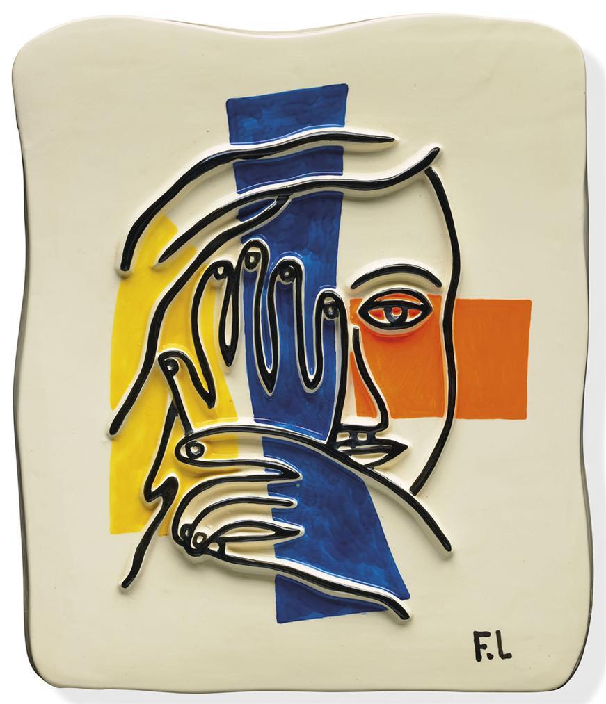 Fernand Leger-Visage Aux Deux Mains-1954