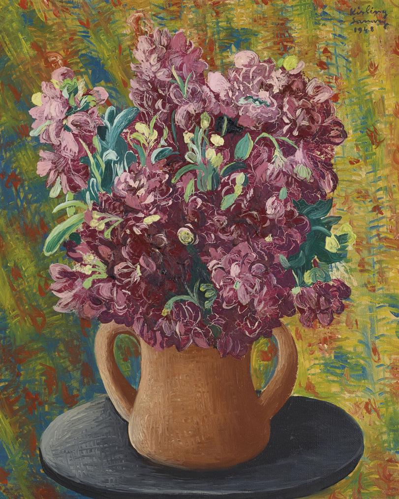 Moise Kisling-Bouquet De Giroflees-1948