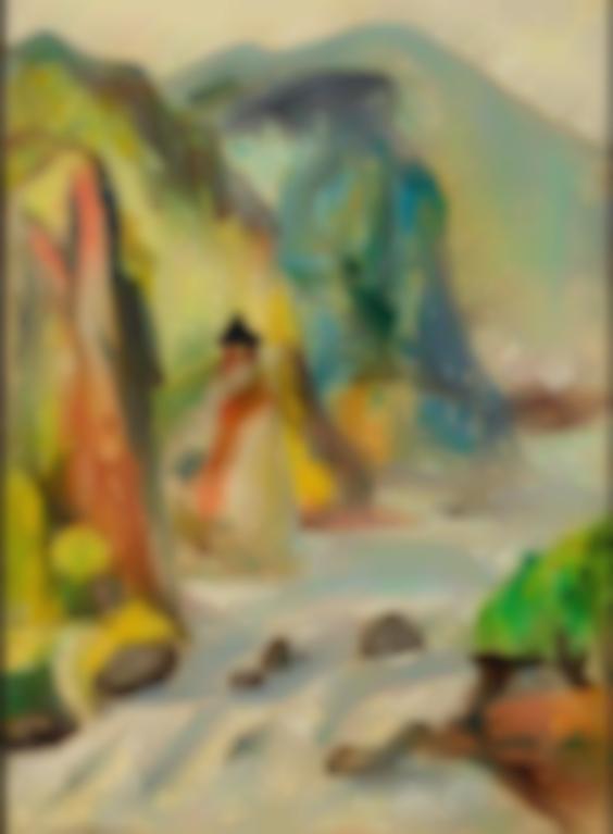Guan Liang-Bao Cheng Shimen Cave-1955