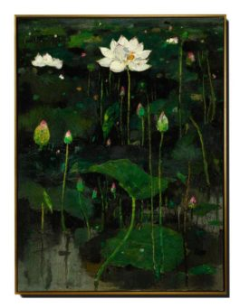 Wu Guanzhong-Lotus Flowers (I)-1974