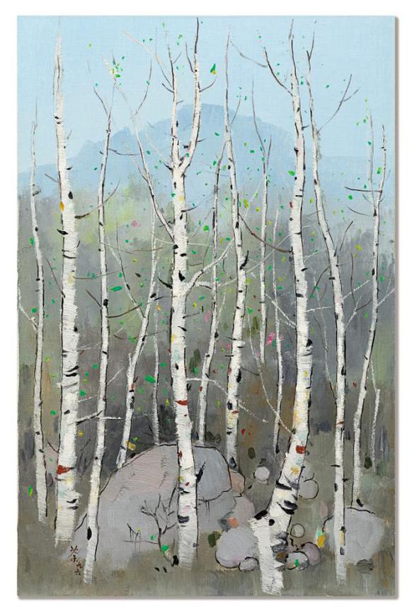Wu Guanzhong-Spring To The North-1996
