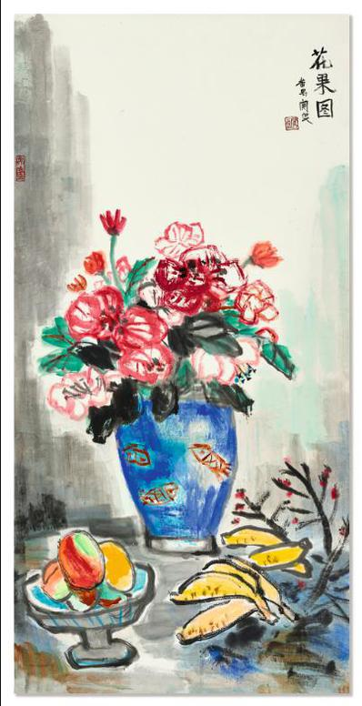 Guan Liang-Flowers And Fruits-
