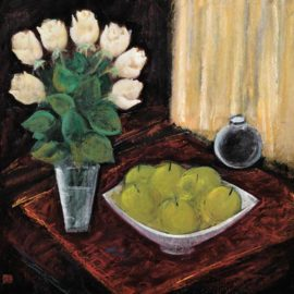 Lin Fengmian-Still Life With White Rose