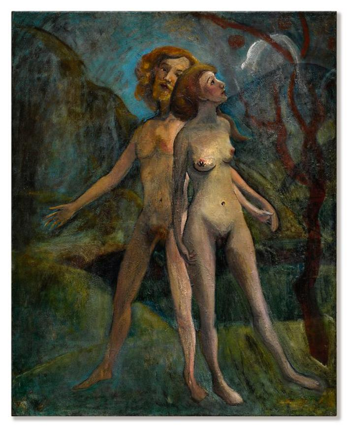 Yun Gee-Adam And Eve-