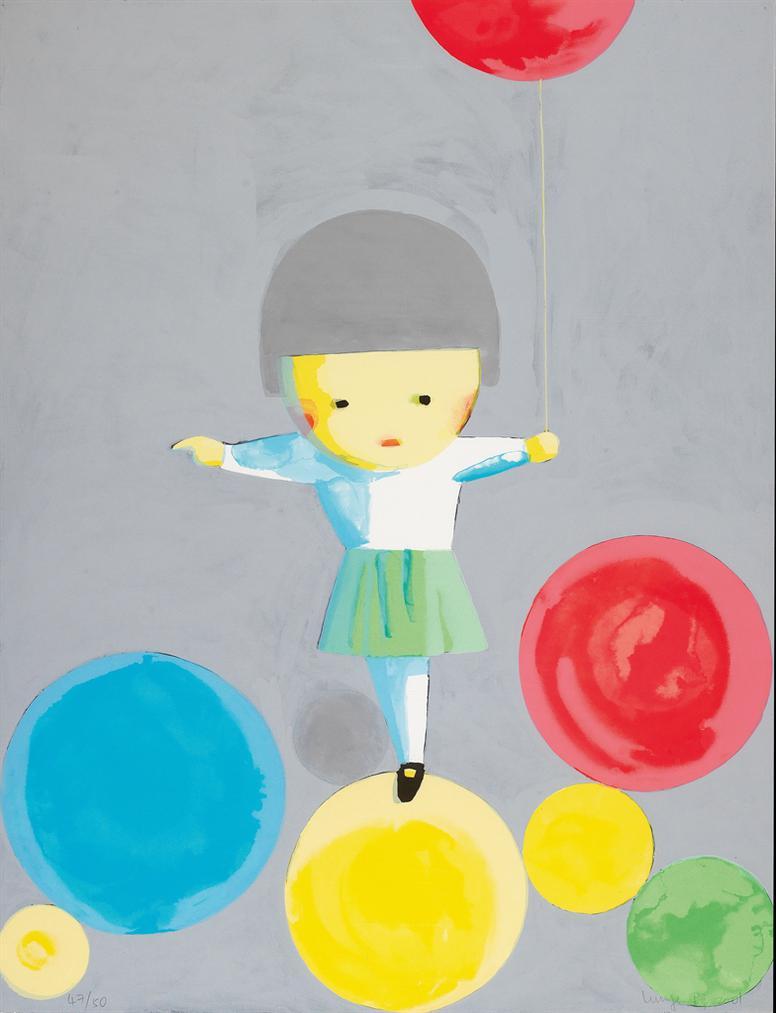Liu Ye-Little Girl With Balloons-2001