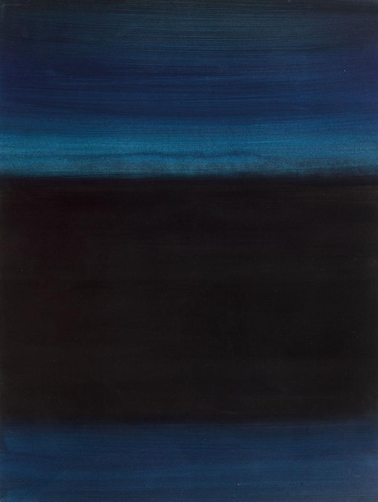 Richard Lin-Composition, Blue & Black-1958