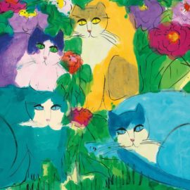 Walasse Ting-Colourful Cats