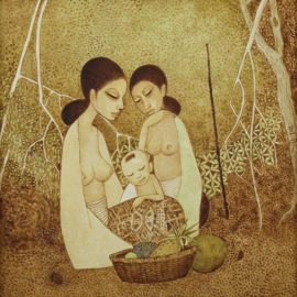 Cheong Soo Pieng-Mother And Children-1977