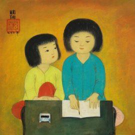 Mai Trung Thu-Two Schoolgirls-1973