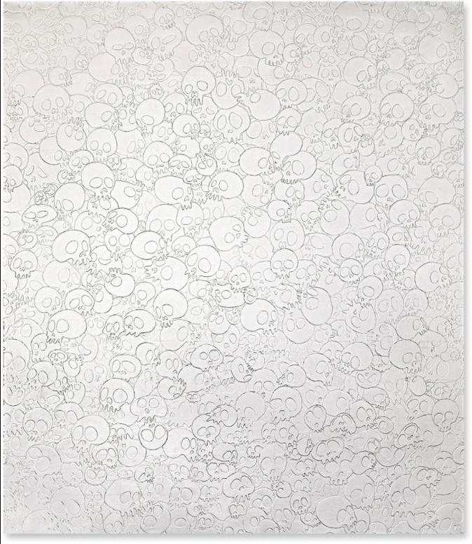 Takashi Murakami-Untitled (Skull Painting)-2016