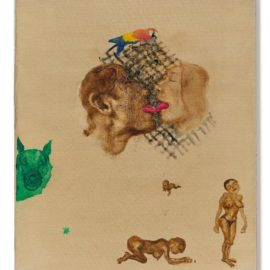 Zhou Chunya-Green Dog, Parrot And Lovers-1998