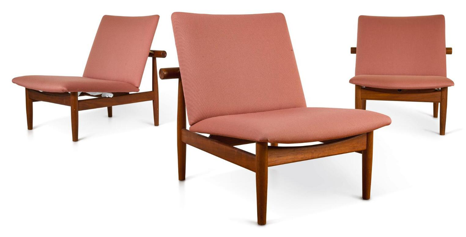 Finn Juhl-Set Of Three Japan Chairs, Model No. 137-1958
