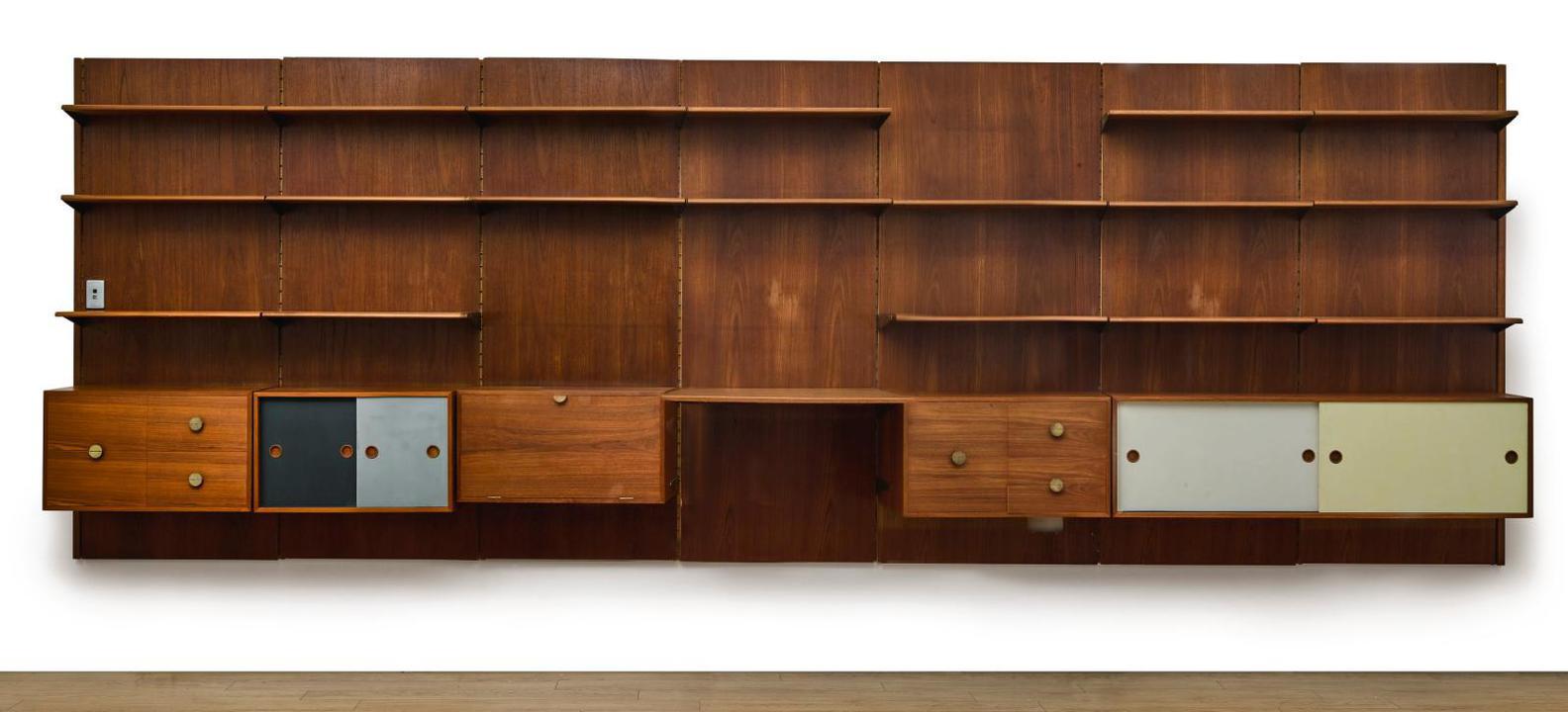 Finn Juhl-Seven Panel Modular Wall System-1955