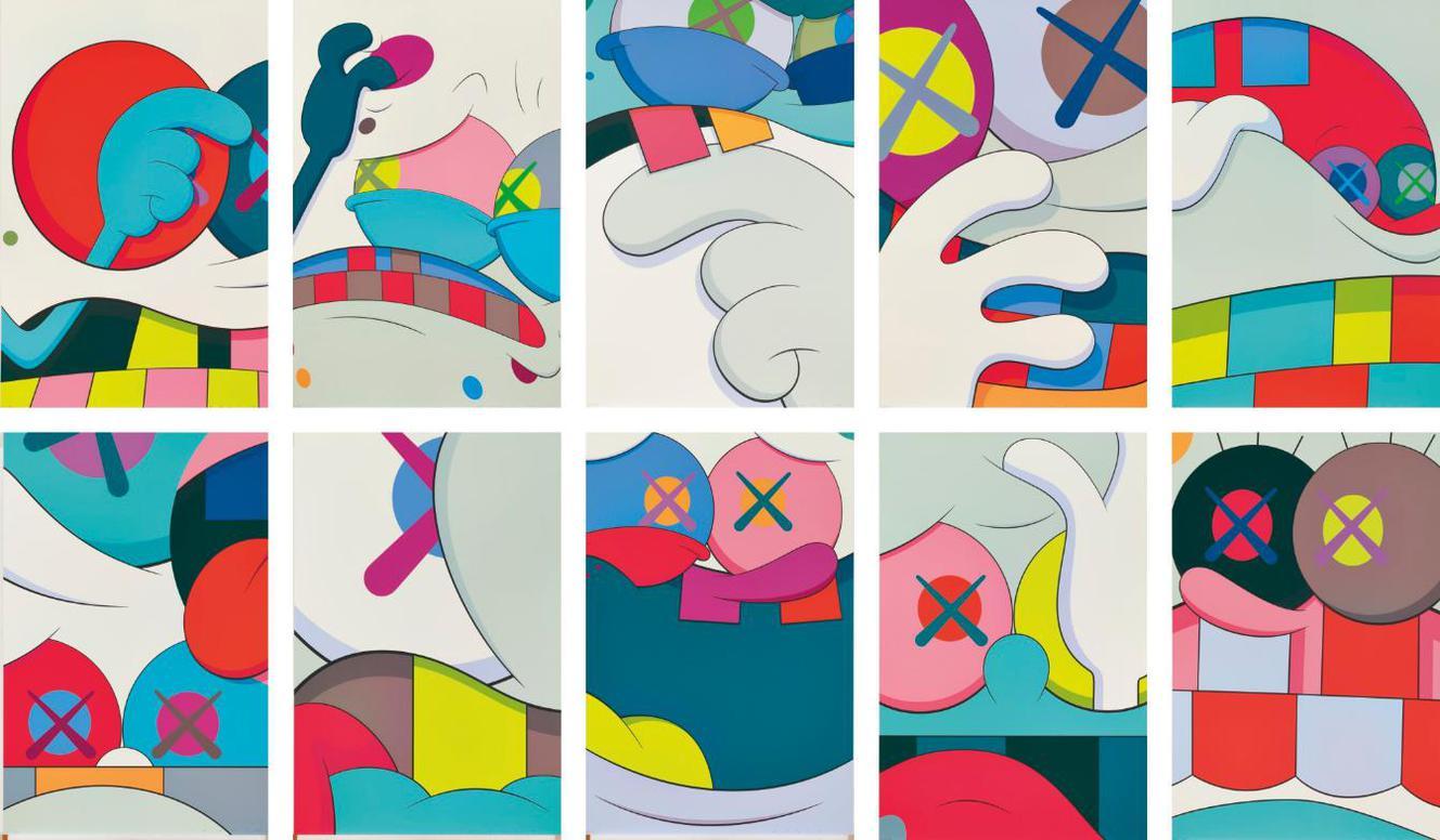 KAWS-Blame Game (A Complete Set Of 10 Prints)-2014