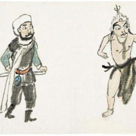 Guan Liang-Four Opera Figures-1965