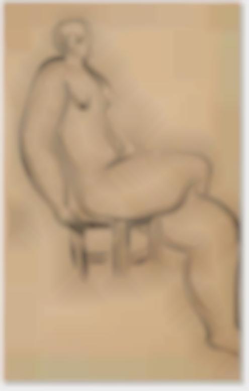 Sanyu-Seated Nude-