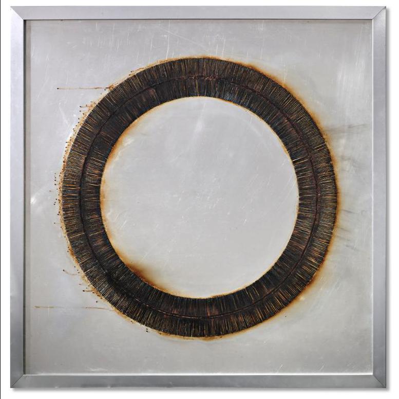 Bernard Aubertin-Dessin De Feu Circulaire-1973