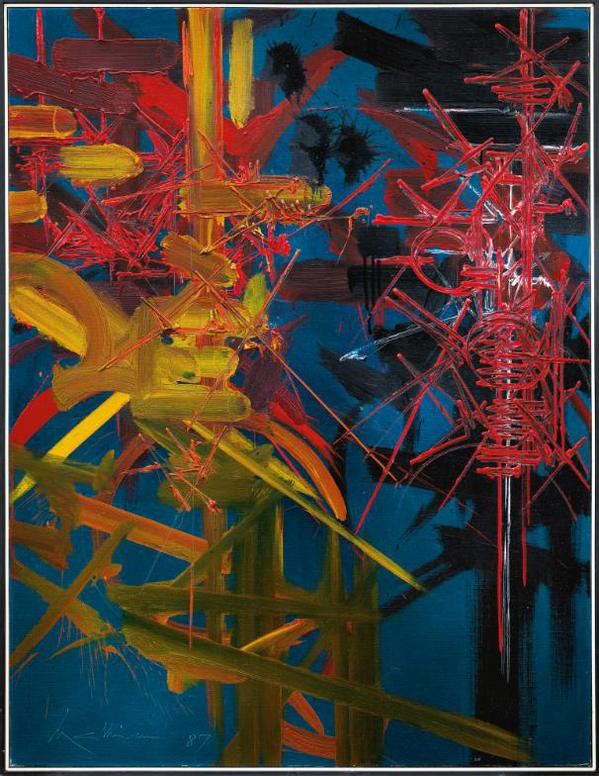 Georges Mathieu-Chanson Dispersee-1987