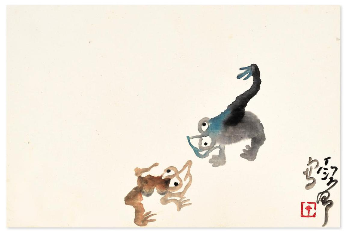 Ding Yanyong-Two Frogs-