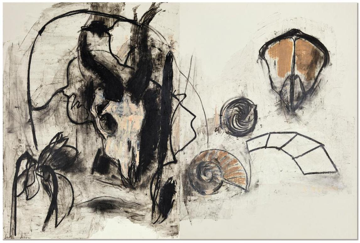 Yang Chihung - Skull And Shell (Diptych)-1987
