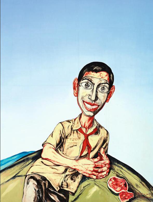 Zeng Fanzhi-Untitled (Mask Series)-2001
