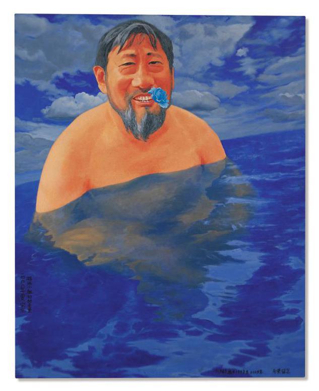 Fang Lijun-Lao Li Is Swimming-1998