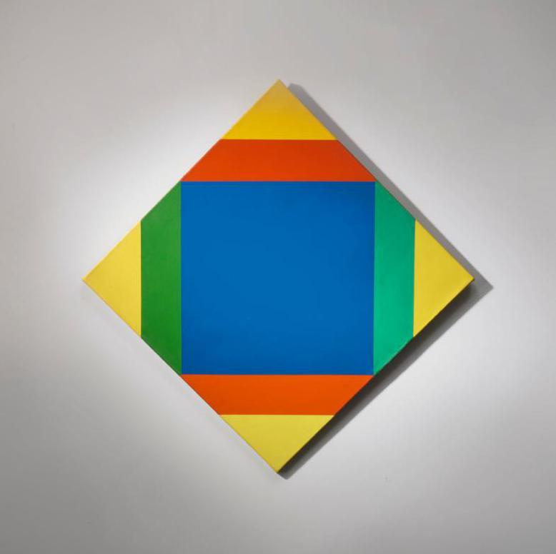 Max Bill-Transcoloration Aus Blau Zu Gelb-1973
