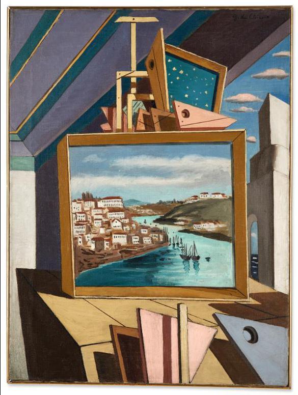 Giorgio de Chirico-Interieur Metaphysique-1925