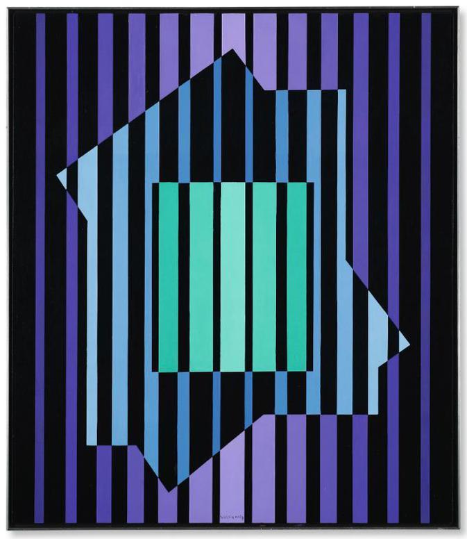 Victor Vasarely-Pensar 3-1972