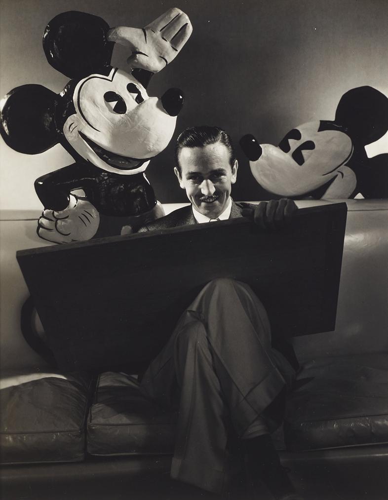Edward Steichen-Walt Disney With Minnie And Mickey Mouse-1933