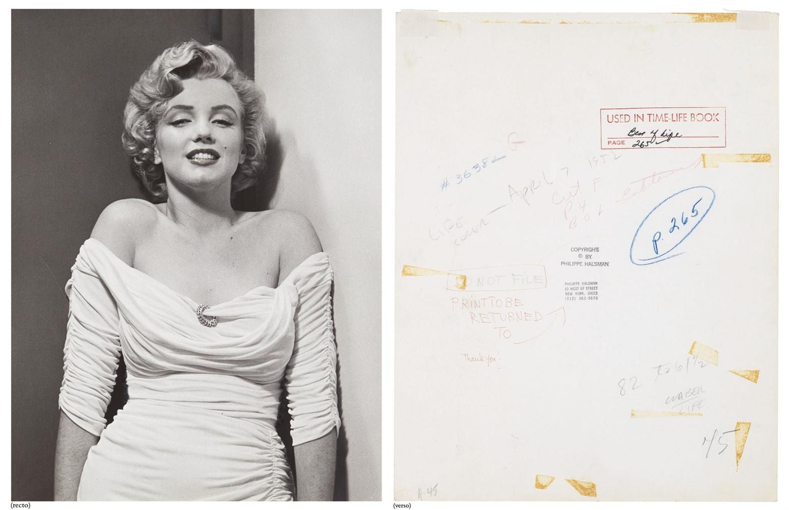 Philippe Halsman-Marilyn Monroe, Life Cover Portrait-1952