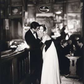 Richard Avedon-Made In France With Signed Print Of Suzy Parker And Gardner Mckay, Cafe Des Beaux Arts, Paris, August 1956-1956