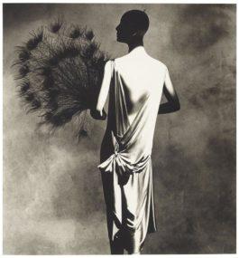 Irving Penn-Vionnet Dress With Fan-1977