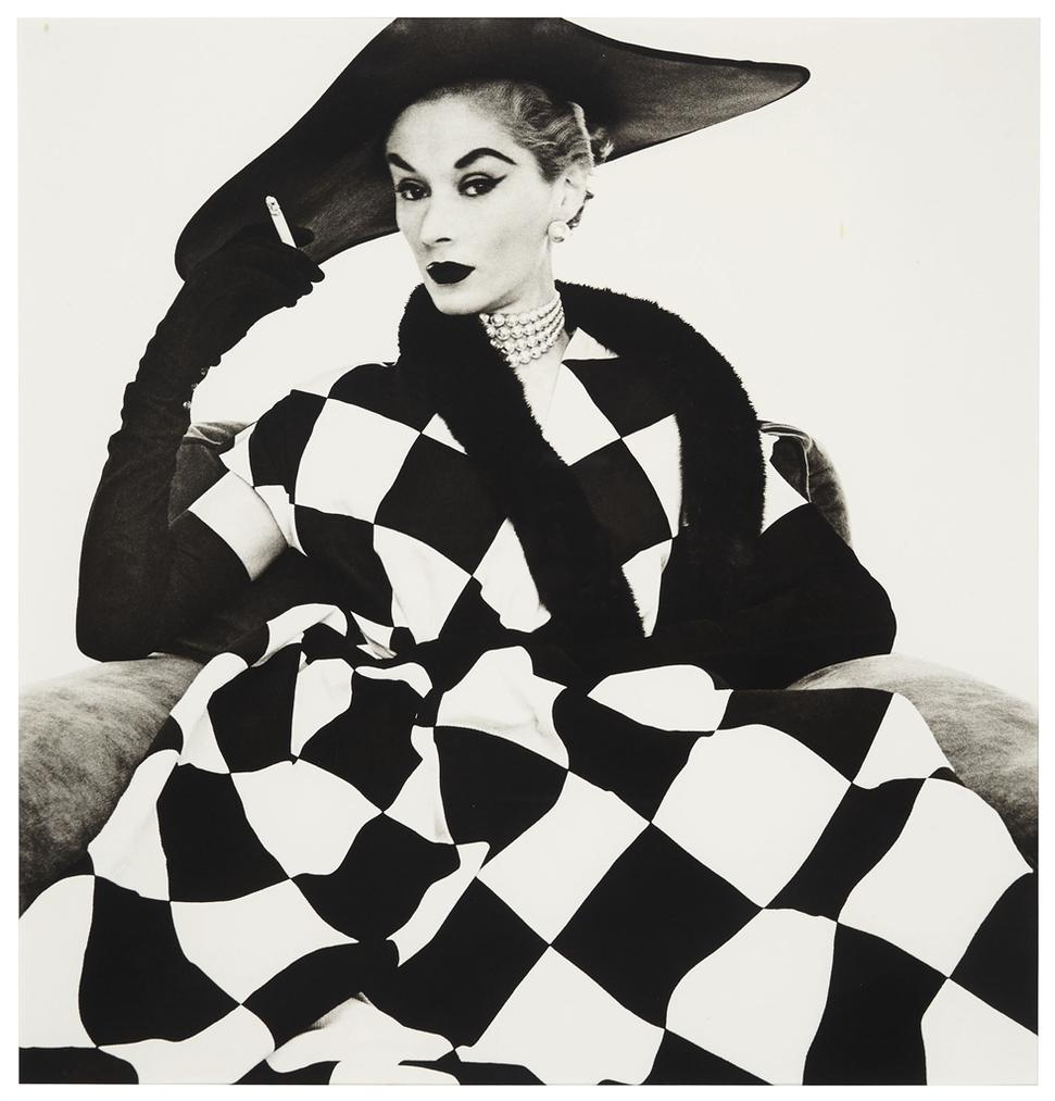 Irving Penn-Harlequin Dress (Lisa Fonssagrives-Penn), NY-1950