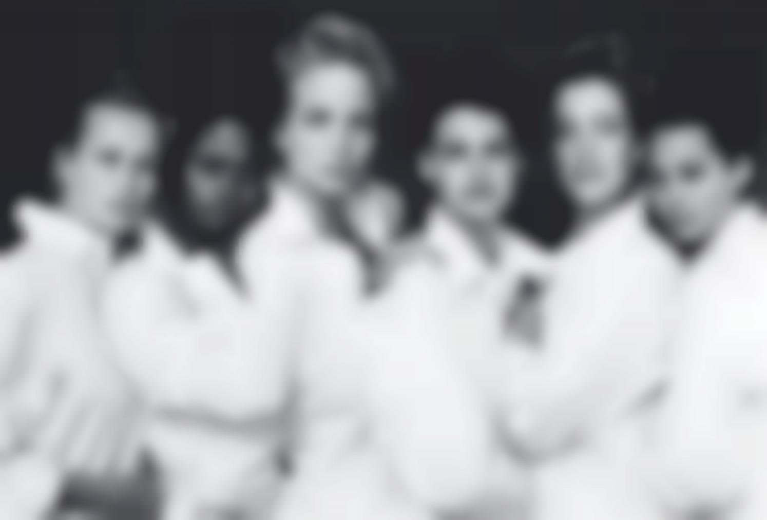 Peter Lindbergh-Estelle Lefebure, Karen Alexander, Rachel Williams, Linda Evangelista, Tatjana Patitz, Christy Turlington, Santa Monica, California-1988