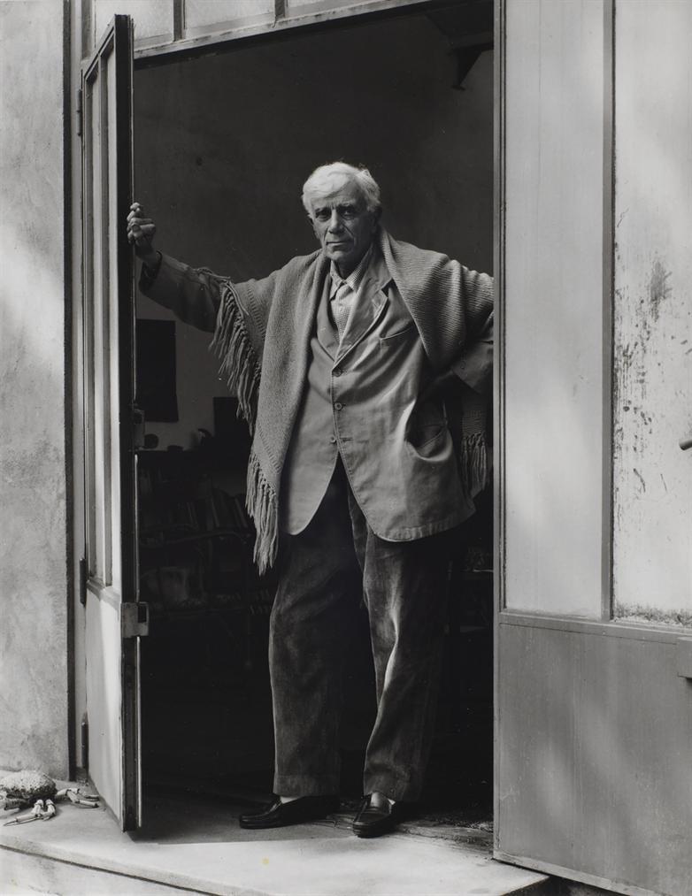 Paul Strand-Georges Braque, Varangeville, France-1957