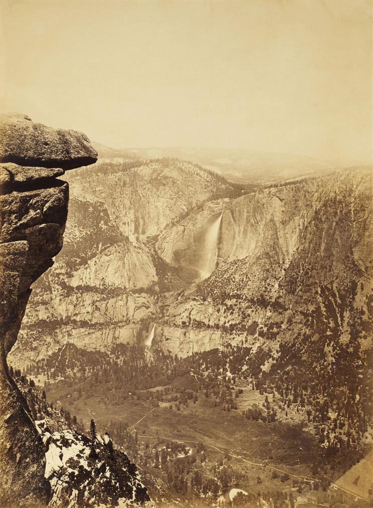 Carleton E. Watkins-Yosemite Falls From Glacier Point-1881