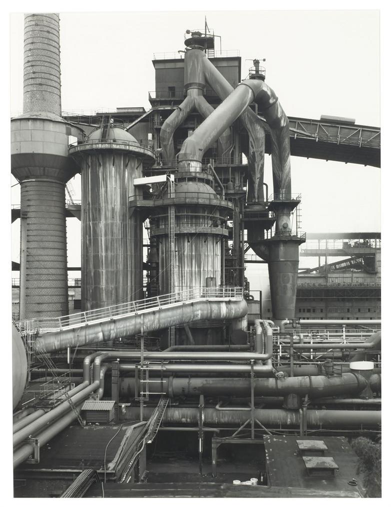 Bernd and Hilla Becher-Blast Furnace, Dillingen, Saarland, Germany-1989