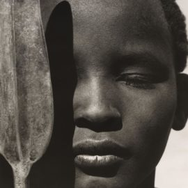 Herb Ritts-Loriki With Spear, Africa-1993