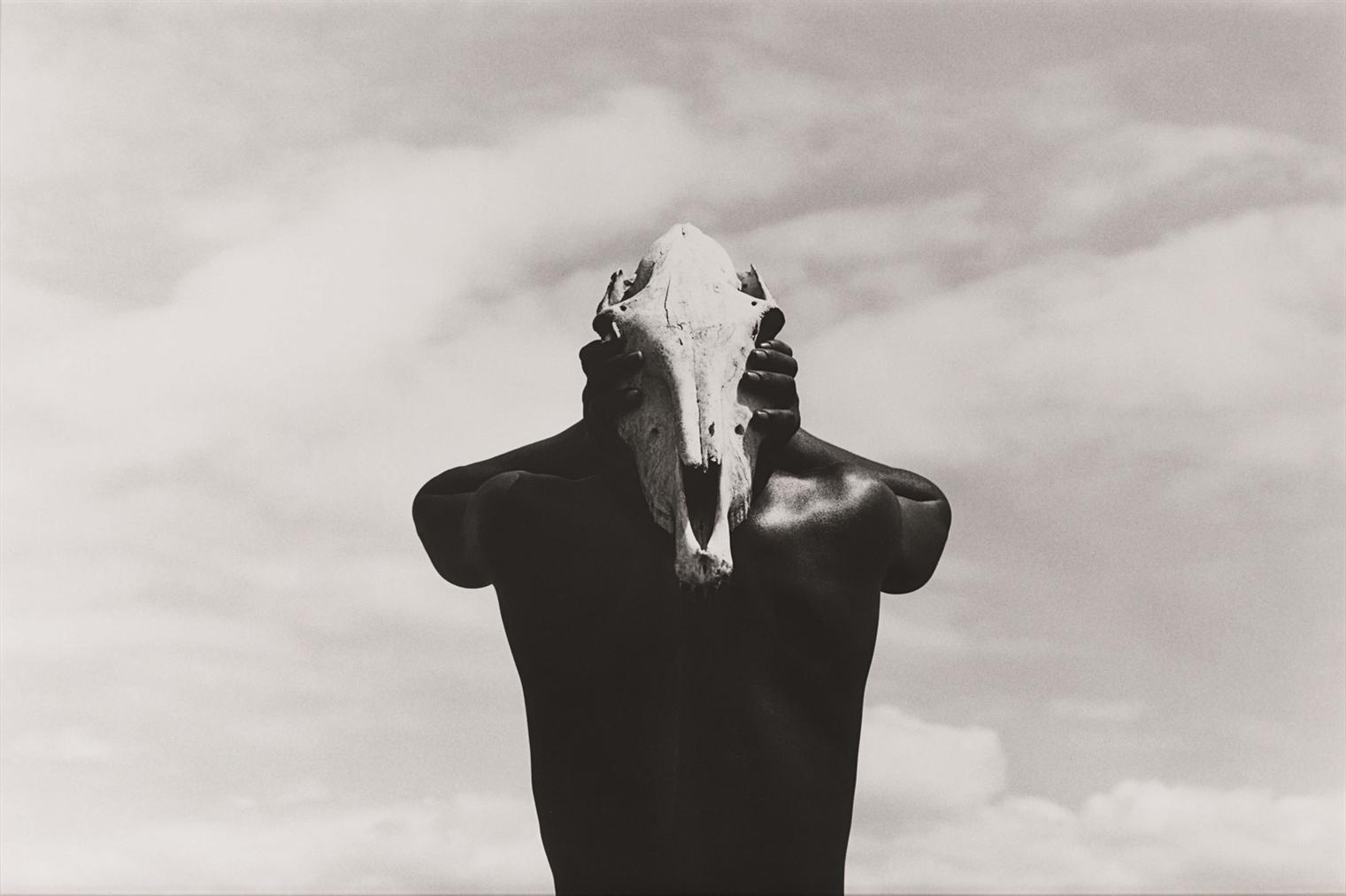 Herb Ritts-Eona, Holding Zebra Skull, Africa-1993